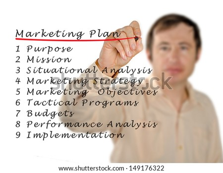 Marketing plan - stock photo