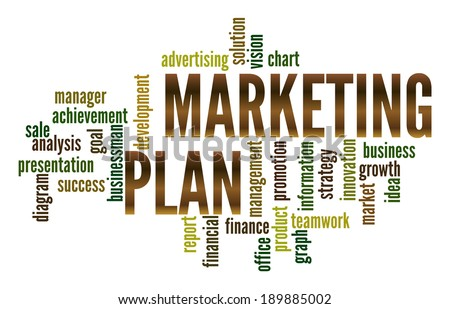 Marketing Plan  in word collage - stock photo