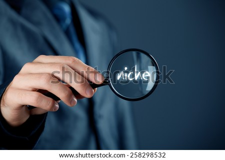 Marketing specialist looking for market niche (concept).  - stock photo