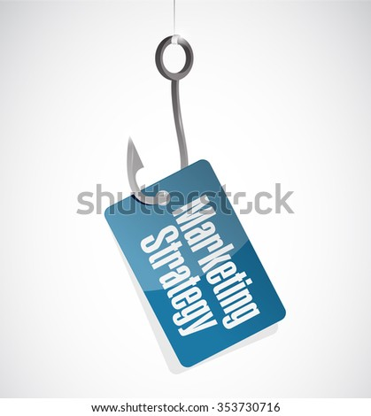 marketing strategy hook sign concept illustration design graphic - stock photo