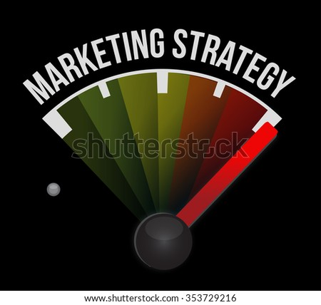 marketing strategy meter sign concept illustration design graphic