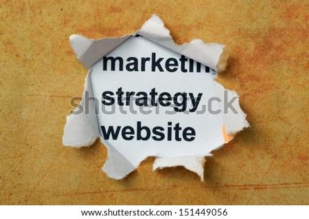 Marketing strategy website - stock photo