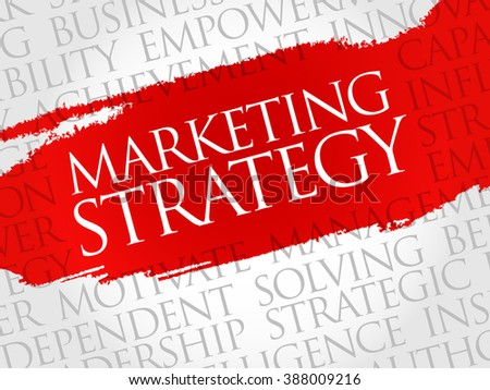 Marketing Strategy word cloud, business concept - stock photo