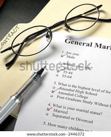 Marketing Survey - stock photo