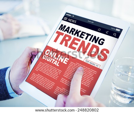 Marketing Trends Online Digital Concepts - stock photo