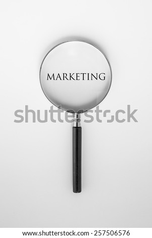 marketing word - stock photo