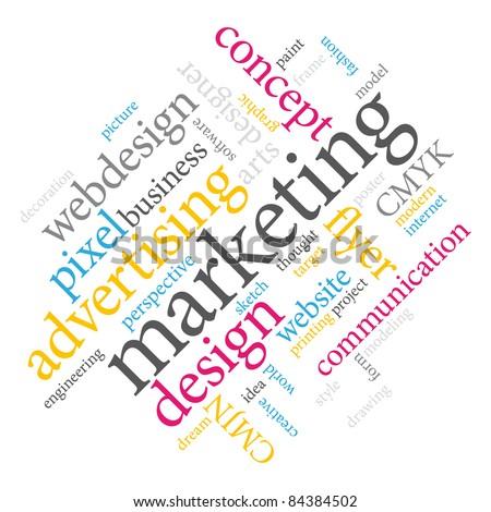 Marketing word cloud. - stock photo