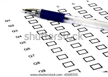 Marking an exam - stock photo