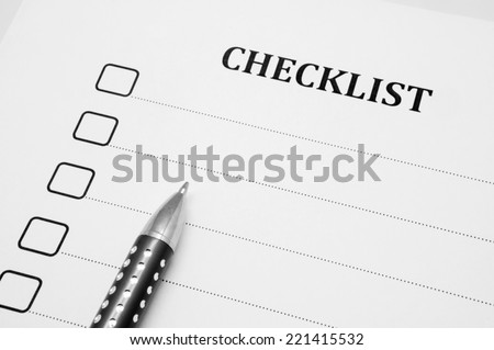 marking checklist - stock photo