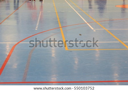 Markings basketball court indoor sports complex