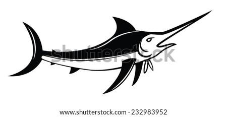 Marlin Fish Symbol - stock photo