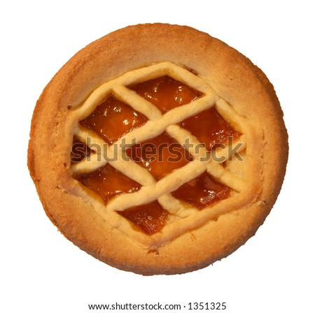 marmalade cookie on white background