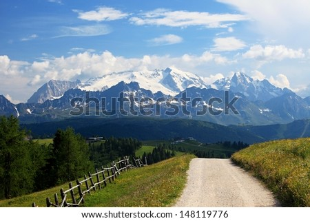 Marmolada, Dolomite, Italy - stock photo