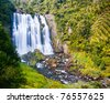 Marokopa Falls Waikato North Island  New Zealand - stock photo