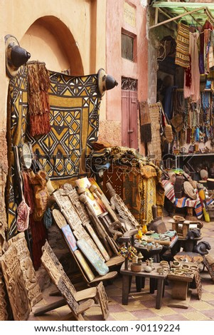 Marrakesh, Morocco, Africa in the old Medina - stock photo