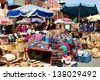 MARRAKESH, MOROCCO-APRIL 29:The spice market of Marrakesh, on April 29, 2013, attracts millions of tourists each year. - stock photo