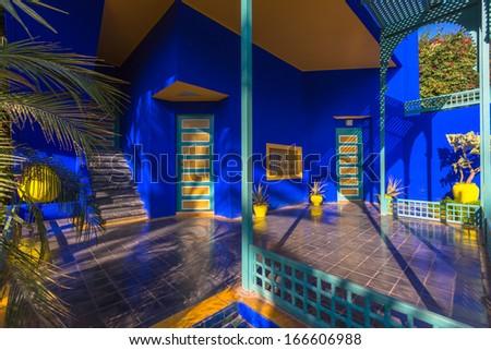 Marrakesh morocco november 7 view of the jardin majorelle on november 7