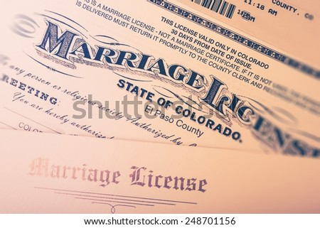 Marriage License Stock Images RoyaltyFree Images  Vectors