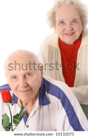 married 50 years - stock photo
