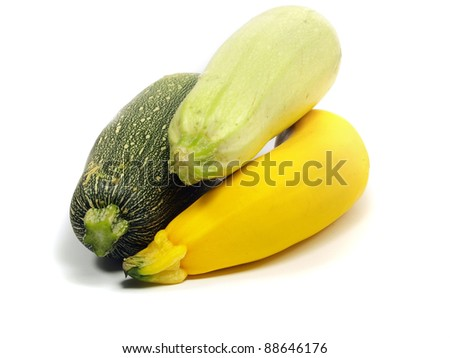marrow on a white background