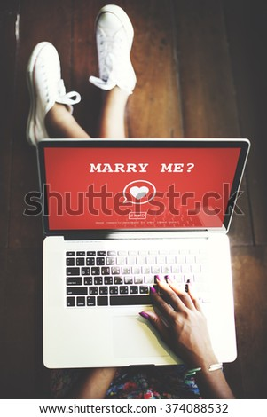 Marry Me? Valentine Romance Heart Love Passion Concept - stock photo