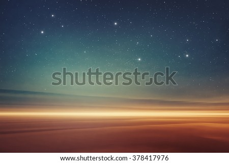 Mars desert like fantasy landscape - stock photo