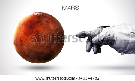 Mars - High resolution best quality solar system planet. All the planets available. This image elements furnished by NASA. - stock photo
