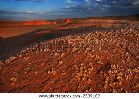 Mars landscape. - stock photo