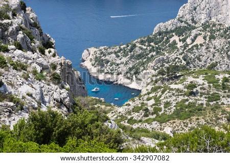 Marseille Calanque.The Mediterranean Sea   - stock photo