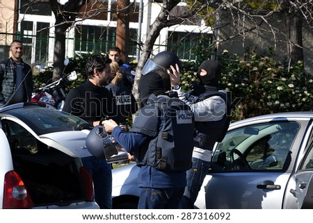 Marseille, France - June 15 2015 : A major police operation took place in the city of Castellane in Marseille, with the arrest of 33 people and the seizure of weapons and drugs.
