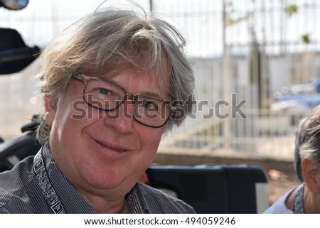 Marseille, France - October 06, 2016 : French cartoonist Jean-Michel Renault at the 5th edition of the International festival of press and political cartoons at l'Estaque.