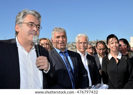 Marseille, France - September 01, 2016 : Jean-David Ciot is a deputy of the 14th district of Bouches-du-Rhone and Mayor of Le Puy-Sainte-Reparade
