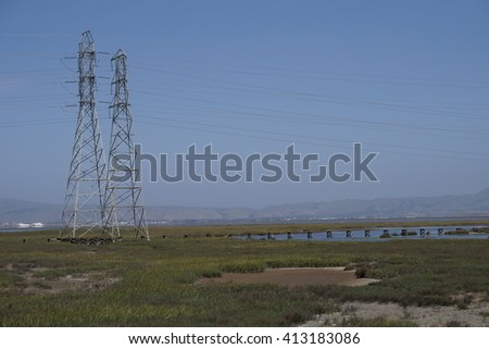 Marsh landscape, bay area, California