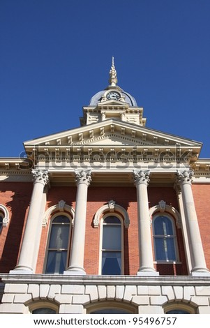 Marshall County Court house in Plymouth Indiana