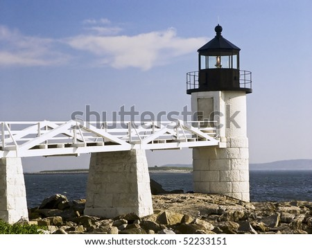 Marshall Point Light Station, Port Clyde, Maine - stock photo