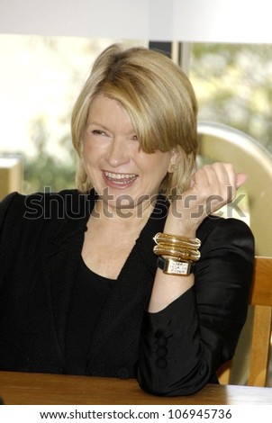 Martha Stewart  at an in store appearance to promote her new book 'Martha Stewart's Cooking School'. Barnes and Noble, Glendale, CA. 11-10-08 - stock photo