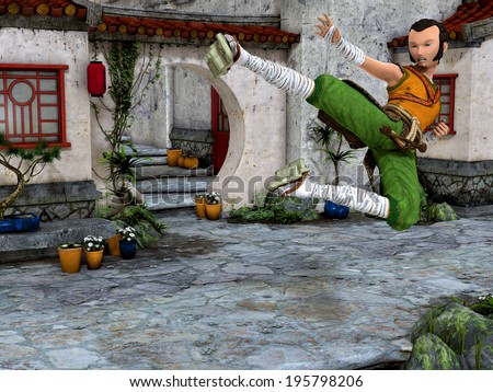 Martial Art in Asia - stock photo