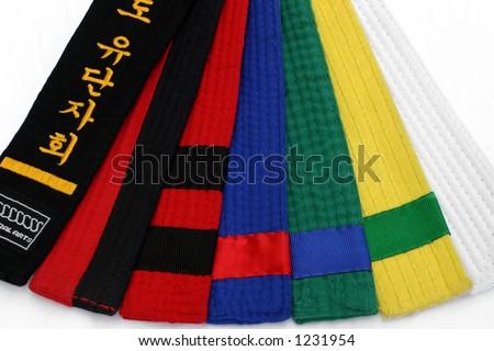 Martial Arts Belts 1 - stock photo
