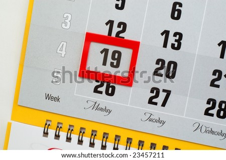 Martin Luther King Jr. Day in calendar 2009 - stock photo