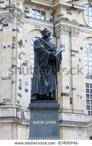 Martin Luther statue in front of the Frauenkirche, Dresden
