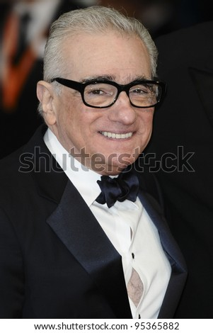 Martin Scorsese arriving for the BAFTA Film Awards 2012 at the Royal Opera House, Covent Garden, London. 12/02/2012  Picture by: Steve Vas / Featureflash - stock photo