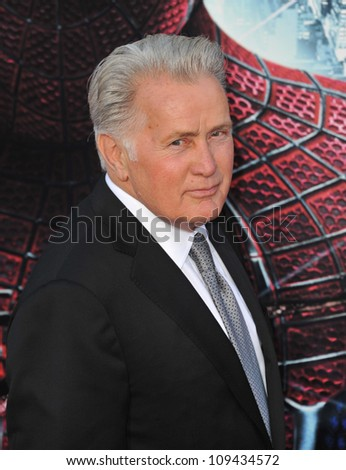 """Martin Sheen at the world premiere of his movie """"The Amazing Spider-Man"""" at Regency Village Theatre, Westwood. June 29, 2012  Los Angeles, CA Picture: Paul Smith / Featureflash - stock photo"""