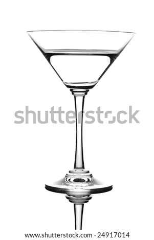 Martini drink isolated against white background - stock photo