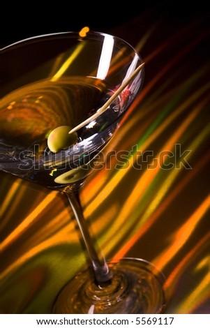 martini glass - stock photo