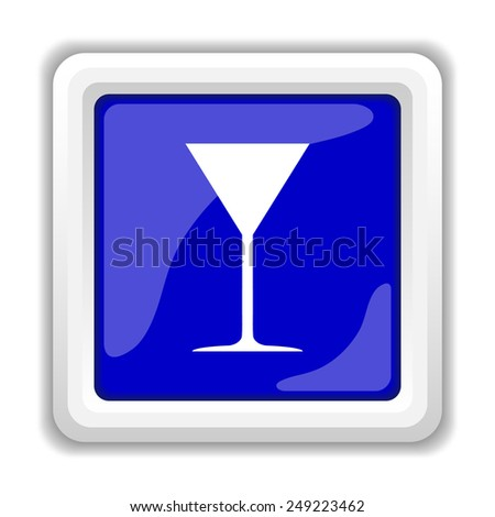 Martini glass icon. Internet button on white background.