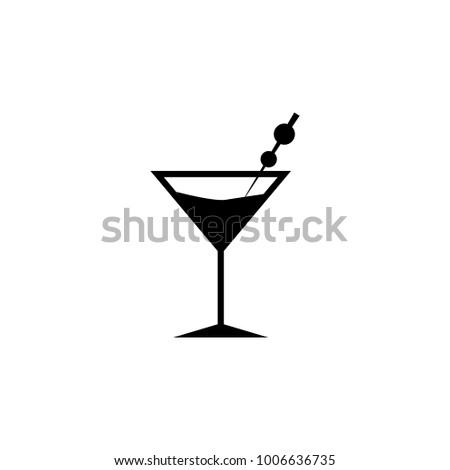Martini Icon Element Italian Cuisine Icons Stock Illustration