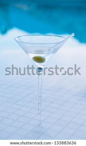 Martini on Pool Bar
