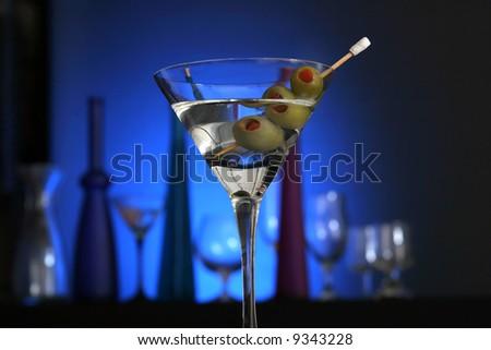 Martini with glasses - stock photo
