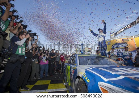Martinsville, VA - Oct 30, 2016: Jimmie Johnson (48) wins the Goody's Fast Relief 500 at Martinsville Speedway in Martinsville, VA.
