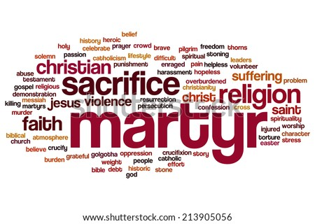 Martyr concept word cloud background - stock photo